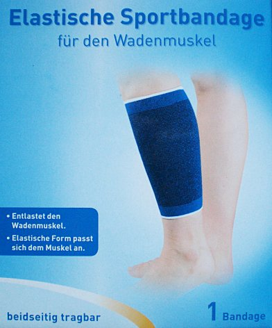 Qualitäts Wade Waden Sportbandage Bandage elastisch, Gr. S