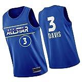 WXZB 2021 All-Star Basketball Jersey 3# 0#, Entrenamiento Diario de Ropa Deportiva, Letras y números Bordados, Regalos para los fanáticos S