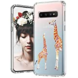 MOSNOVO Galaxy S10 Plus Case, Cute Giraffe Printed Pattern Clear Design Transparent Plastic Hard Back Case with TPU Bumper Protective Case Cover for Samsung Galaxy S10 Plus