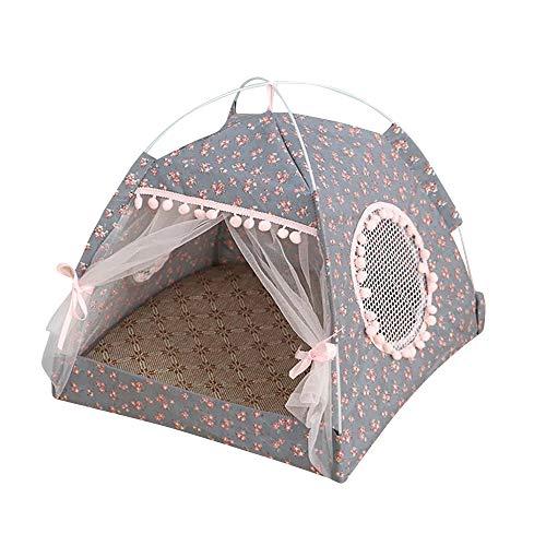 thematys Hundebett I Luxus-Katzenhöhle I Hunde-Schlafplatz I Hundekorb I Hochwertiger Katzenkorb I Katzen-Zelt (Style 2, M (38 x 38 x 36 x 27 cm))