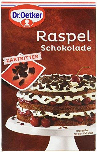 Dr. Oetker Raspelschokolade Zartbitter, 100g