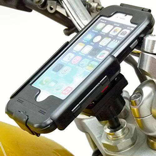 """20,5 -24, 5mm (0.81 \"""" -0.96 \"""") Motorrad Lenkkopf Halterung mit Tigra Robuste Hülle für IPHONE 8 Plus (5.5 \"""")"""