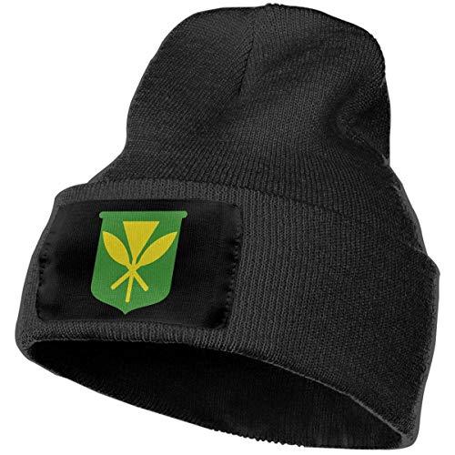 Hawaii Kanaka Maoli Flagge Männer Frauen Winter Mütze - Unisex Cuffed Plain Skull Strickmütze Cap-Y3