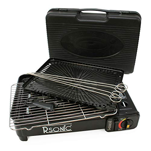 RSonic Butangas Camping Grill mit Koffer
