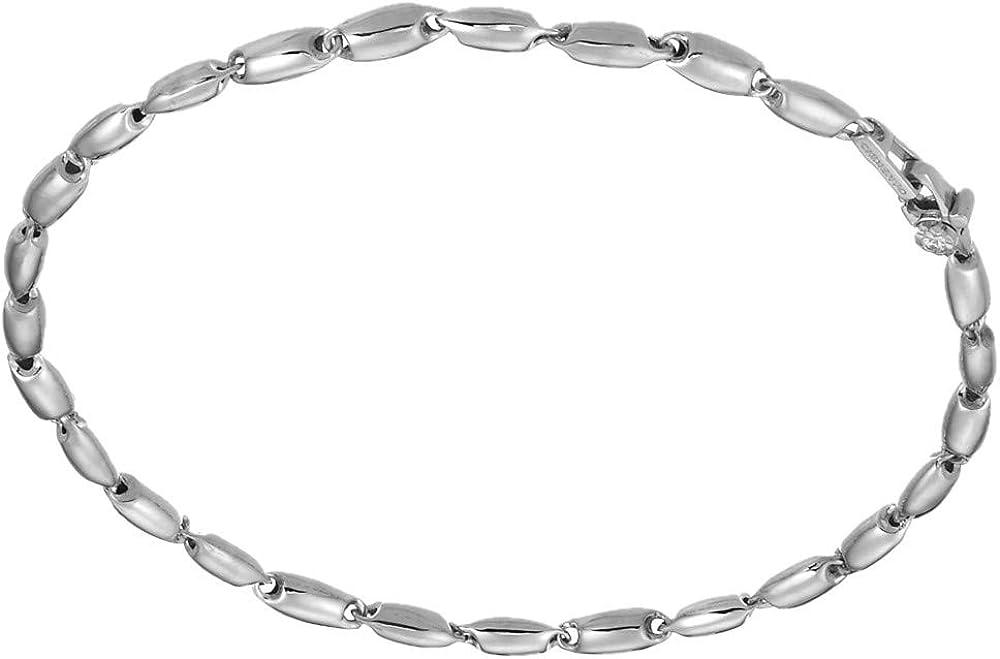 Chimento,bracciale per uomo in oro bianco 18 kt(5,5 gr)e diamante ct. 0.03 1B05314ZB5200