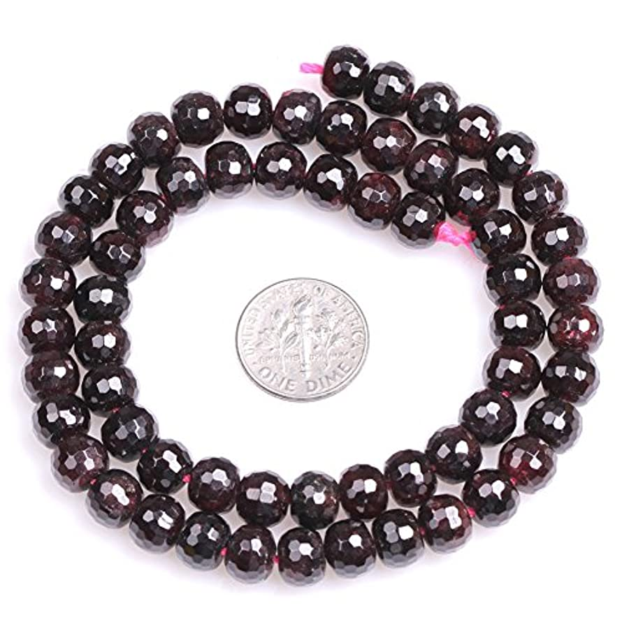 Garnet Beads for Jewelry Making Natural Gemstone Semi Precious 6x8mm Faceted Rondelle Spacer 15