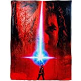 utong The Last Jedi Movie Poster HD Silk Touch Throw Blanket Multi Color