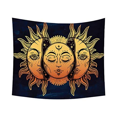 Xmiral Tapisserie Wandbild Dekoratives Muster Tischdecke Wanddeko Hängen Tapestries 150x130cm(O)