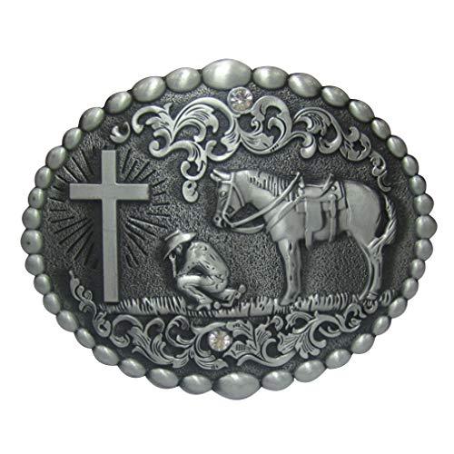 LKMY Vintage Herren Gürtelschnalle Indianer Gürtel, Western Cowboy Gürtelschnalle für Männer Gr. onesize, C