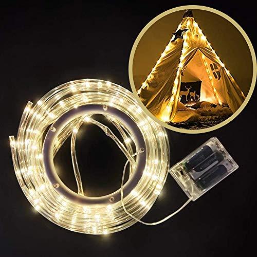 Tipi Tienda Led Light, Impermeable LED 4 Tira funciona con pilas para Tipi Tienda de Campaña para Niños 4 String LED Fairy Lights for Teepee Tents Battery Operated, 4 correas