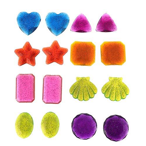 PRETYZOOM 16 Piezas de Inmersión Gema Piscina de Juguete Conjunto de Verano de Natación Submarina de Plástico Colorido de Buceo de Entrenamiento de Piscina Juguetes para Niños Juego de
