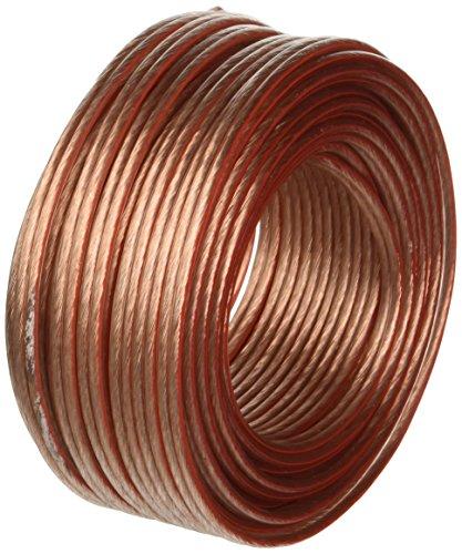 Manax - Cable para altavoz (2 x 1,5 mm², 20 m), transparente