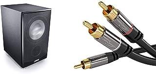 Canton AS 85.3 SC Leistungsstarke Aktiv Subwoofer (200/280W) schwarz & KabelDirekt   Cinch Audio Y Kabel   3m   (Koaxialkabel geeignet für Verstärker, Stereoanlangen, HiFi Anlagen)