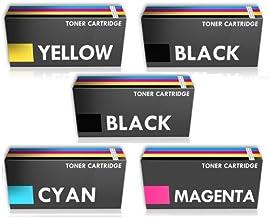 Prestige Cartridge Combo Pack - 5 x Compatible Cartuchos de Tóner Láser para Impresoras DELL 2150cn, 2150cdn, 2155cn, 2155cdn - UN Juego MÁS UNO Negro