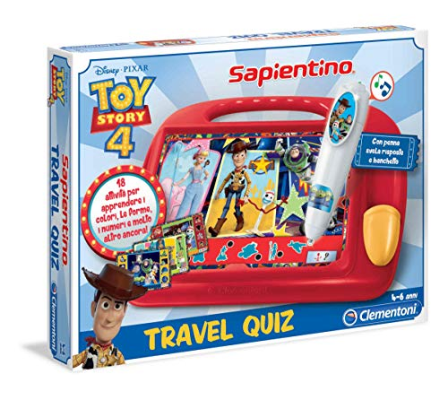 Clementoni - Sapientino Travel Quiz-Disney Toy Story 4, Multicolor, 16233
