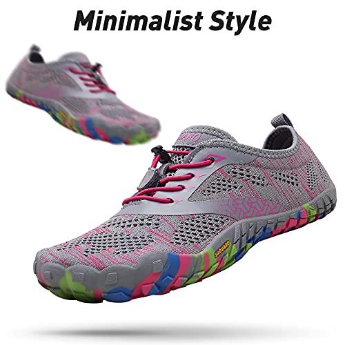 SAGUARO Hombre Mujer Zapatillas Barefoot Minimalistas Calzado de Training Ligeras Cómodas para Caminar Senderismo Ciclismo Trail Running Trekking Playa Agua Exterior Interior, Rosa Pink, 39