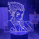 Luces De Noche Led,Regalo De Luz De Noche Para NiñOs Sensor TáCtil Led Luz De Noche De Dormitorio Colorido Anime Hunter X Hunter Luz De DecoracióN LáMpara 3d Fresca Hisoka Gadgets