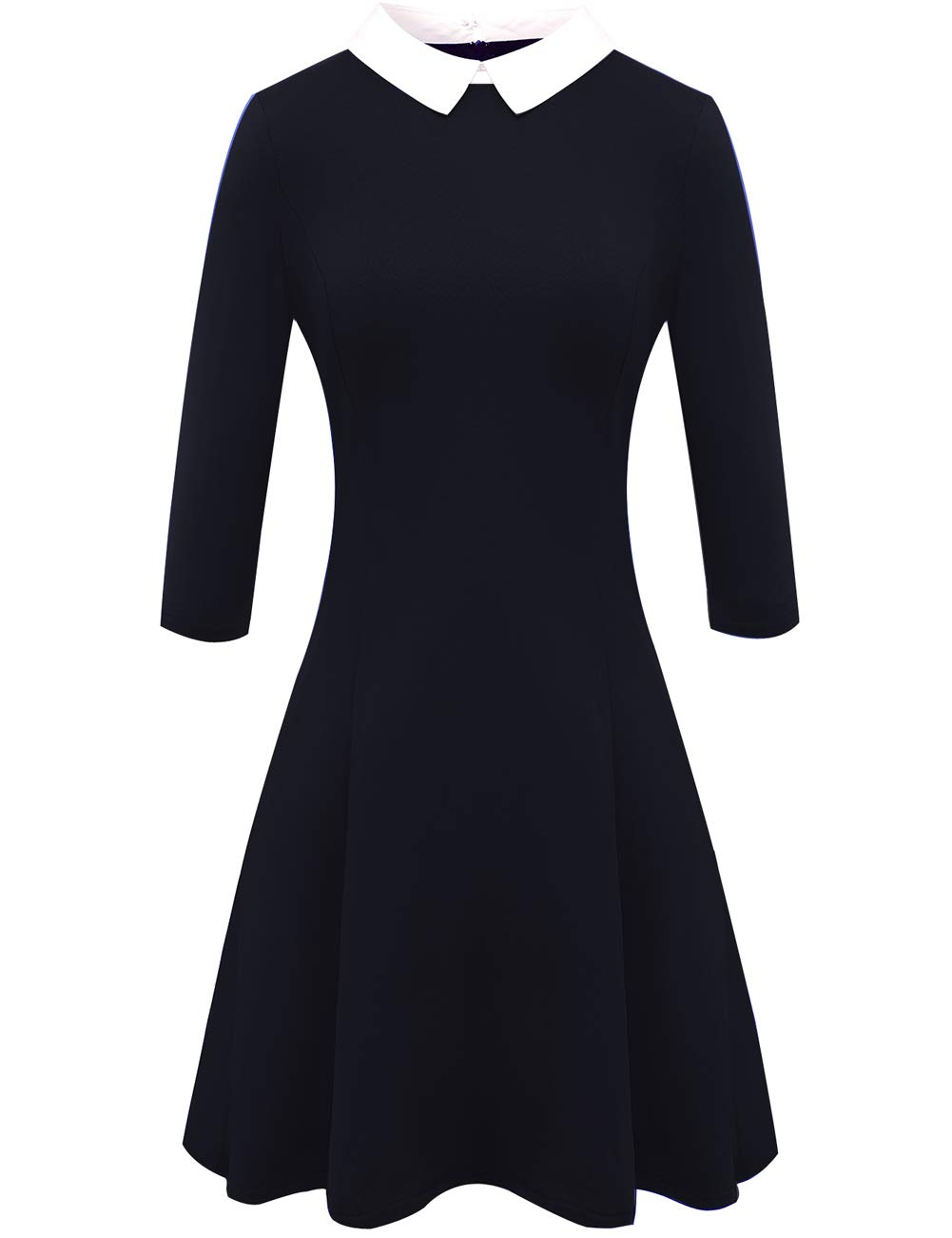 Available at Amazon: Melynnco Women's 3/4 Sleeve Casual Dress Wear to Work with Peter Pan Collar for Party