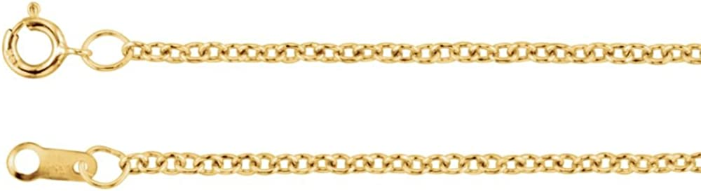 14k Yellow Gold Gold Filled 1.5 mm Solid Cable 36