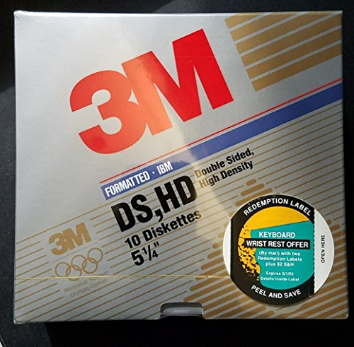 3M Imation Diskettes 5 1/4 10 per package Double Sided High Density