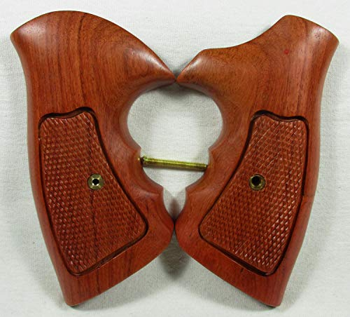 Smooth Industries Wood Checkered Grips for Taurus.357 6 Shots Revolver, Medium& Large Frame, New