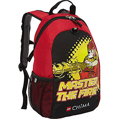 LEGO Master of Fire Chima - Mochila Infantil, Color Negro y Rojo