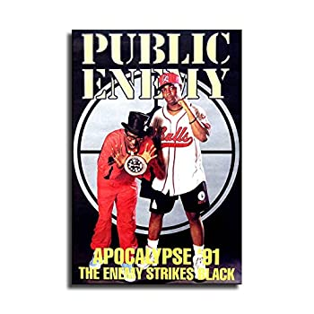 Music Poster Public Enemy 1991 Apocalypse ?91 The Enemy Strikes Black Original Store Poster art Prints Modern Artwork Vintage Abstract Painting Giclee Prints Contemporary Canvas Art for Home Office Decoration Posters & Prints  24x36 inch,No Frame