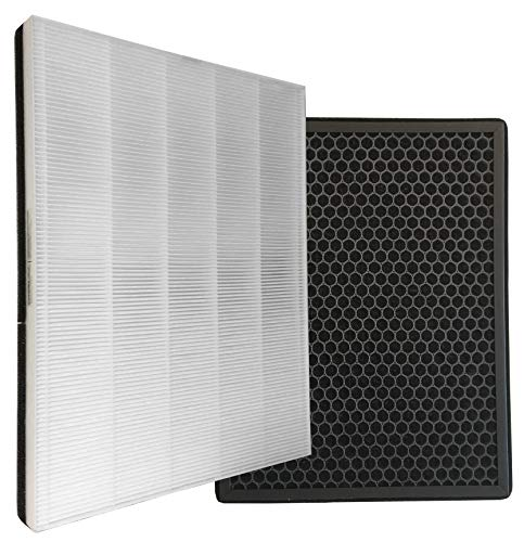 Comedes Ersatzfilterset passend für Philips AC1214/10 und AC2729/10 Luftreiniger (Series 1000) | HEPA- und Aktivkohle-Filter | einsetzbar statt Philips FY1410/30 und FY1413/30