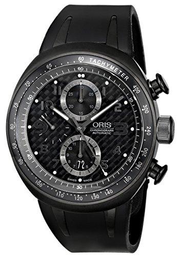 Oris Men's 674 7611 7764RS TT3 Chronograph Black Dial Watch