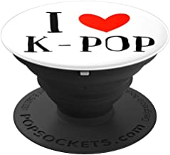 Kpop Popsocket K-pop Merchandise Black On White - PopSockets Grip and Stand for Phones and Tablets