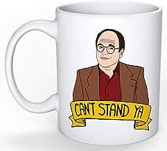 SkyLine902 - George Costanza Mug (Jerry Seinfeld, Elaine Benes, Cosmo Kramer, Larry David, Curb your Enthusiasm), 11oz Ceramic Coffee Novelty Mug/Cup, Gift-wrap Available
