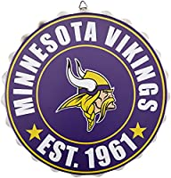 Minnesota Vikings NFL Bottle Cap Wall Sign