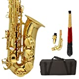 MicroMall(TM) MBAT Alto Drop E Paint Gold Saxophone Paint Gold