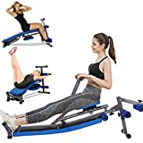 Tengma Adjustable Resistance Rowing Machine Rower, Foldable Beauty Waist Supine Board Sit Up Bench Push Ups Fitness...