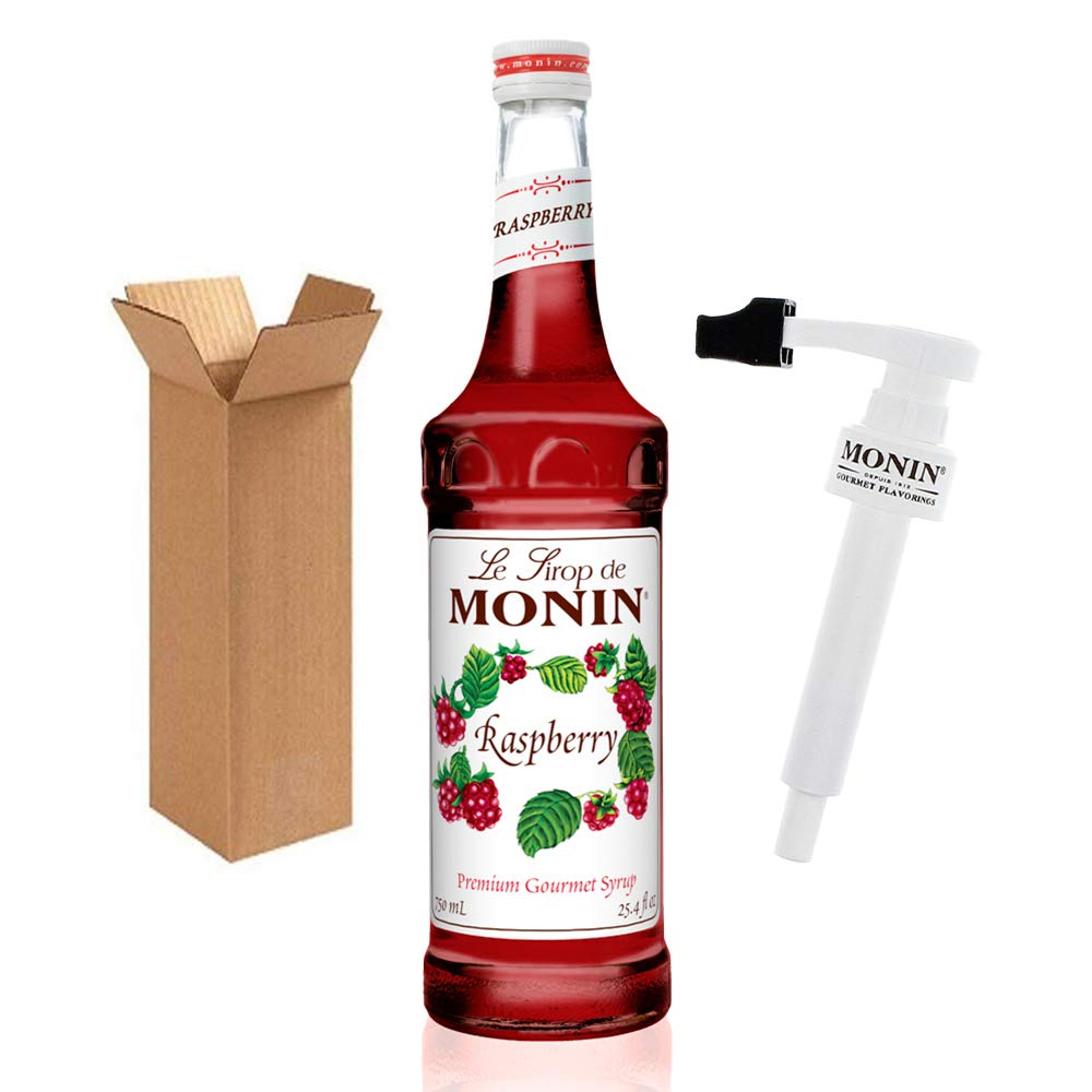 Monin - Raspberry Syrup Colorado Springs Mall with BPA Free Sweet Pump Sales of SALE items from new works a Boxed