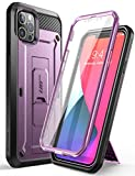 SUPCASE Unicorn Beetle Pro Series Case for iPhone 12 Pro Max (2020 Release) 6.7 Inch, Built-in Screen Protector Full-Body Rugged Holster Case(Violte)