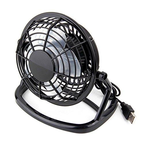 GGG Portable USB Bureau Mini ventilateur de refroidissement USB ventilateur électrique Noir