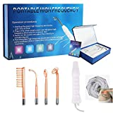 High Frequency Facial Machine, Portable Handheld High Frequency Skin Therapy Machine-Tightening Acne Spot Wrinkles...