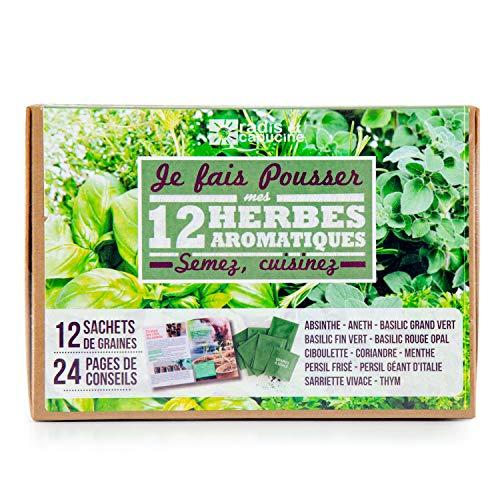 Radis et Capucine - Coffret graines aromates - 12 sachets de graines à semer