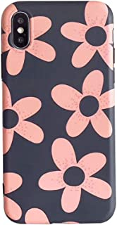 BONTOUJOUR iPhone X/iPhone XS Phone Case, Beautiful Art Polka Dot Flower Little Heart Pattern Serie Cover Case Soft TPU 360 Degree Good Protection- Flower-Red
