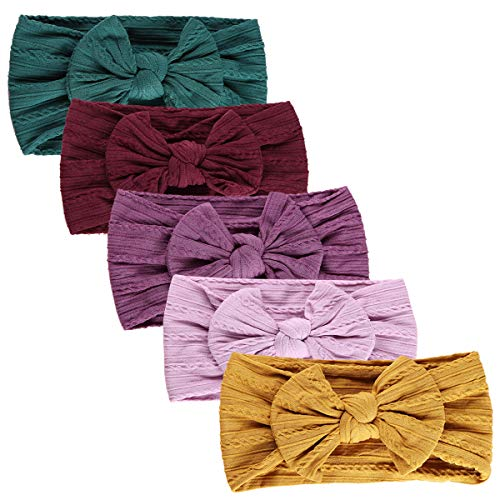 Baby Girl Headbands Newborn Infant Toddler Hairbands and Bows Child Hair Accessories (one size, AT05)