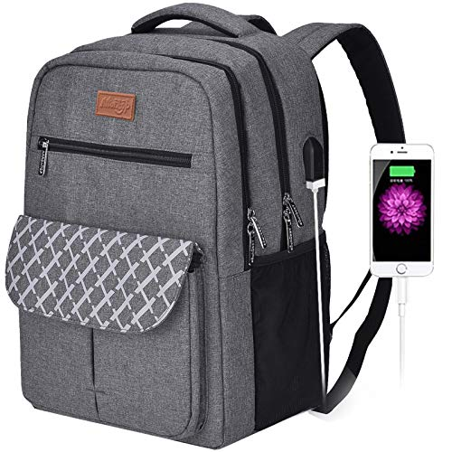 Arrontop Business Travel Backpack Anti Theft School Laptop Backpack Water Resistant Comfort Computer Bag with Usb Charging Port