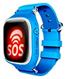 Swiss-Pro ZUG-A - Reloj Inteligente (Pantalla IPS, Bluetooth 3.0, Micro SIM, GPS) Color Azul