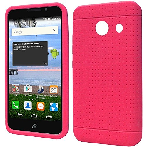 FastSun Soft Flexi Silicone Case Phone Cover For Huawei Pronto LTE SnapTO H891L G620 Phone (Pink)