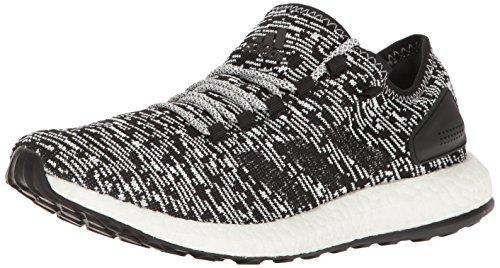 adidas Men's Pureboost Running Shoe, Black/White, 8 M US