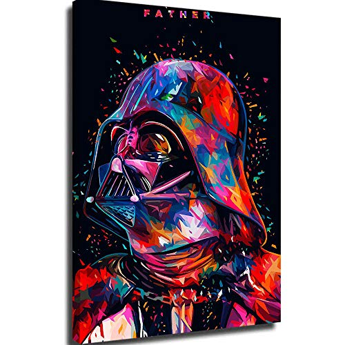 Diamond Painting Canvas For Bedroom Color Portrait Of Star Wars Darth Vader Wall Art Modern Family Bedroom Decoration Poster 8x12inch