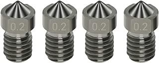 Boquilla para impresora 3D Juego de 2 boquillas largas compatibles E3D Volcano di/ámetro 0,6 mm para filamento 1,75 mm I3D Selection