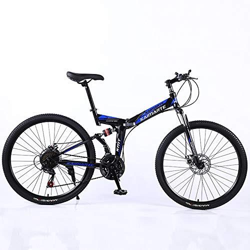 Nerioya Mountainbike, Doppelscheibenbremse Aus Kohlenstoffstahl Mit 24-36 Zoll Gestapeltem Mountainbike, 21-27-Gang-Offroad-Soft-Tail-Fahrrad Für Erwachsene,A,26 inch 27 Speed
