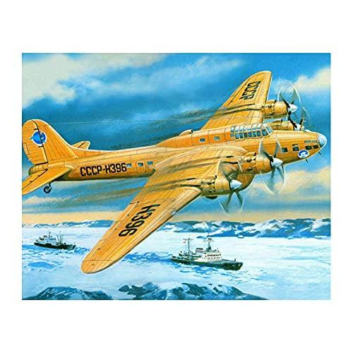 bricolaje Pintar Por Numeros Kit AvióN Aeroespacial Kit de pintura al óleo para niños y adultos DecoracióN NavideñA