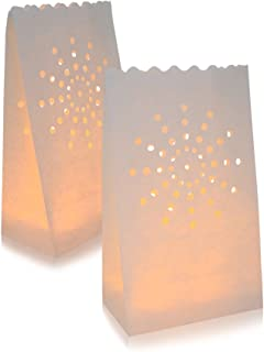 AceList 30 Set Luminaries Bag Candles Bags Flameless Luminary for Wedding Party Event